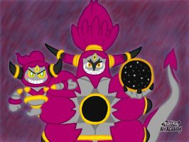 Pokemon Art Academy - Confined and Unbound Hoopa by SpriteGirl