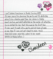 Sweet 1600 Clawdeen's Note by zombiegator