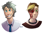 Human Cheetwo and Vexus by Blairaptor