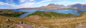 Upper Loch Torridon Panorama by da-phil