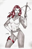 SCARLETT G.I.J.O.E COMMISSION !!! by carlosbragaART80