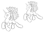 Alicorn Pony Base Male and Female by AC-whiteraven