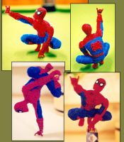Pipe Cleaner Spiderman by fuzzymutt