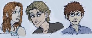 Clary, Jace and Simon by Deesney