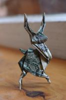 prancing buck by origamipaul