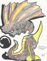 Godzilla Animated: Battra by Blabyloo229