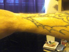 unfinished tattoo two by 4biddendonut