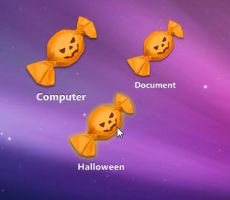 Halloween Candy Shortcut by xwidgetsoft
