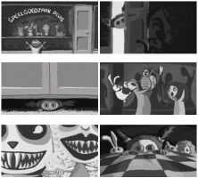 Compilation of a storyboard by ellida