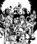 Old punk zombies destroying hipsters by Morbidly-Obtuse