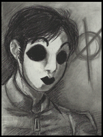 Charcoal: Masky by Cageyshick05