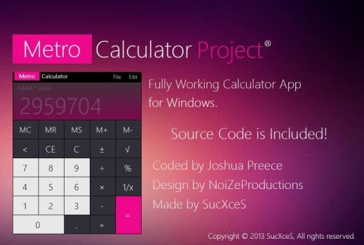 Metro Calculator Project by SucXceS