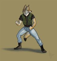 Brian Yotes Coyote Mercenary by thornwolf