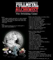 Fullmetal Alchemist: The Drinking Game by csicsus