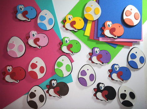Yoshi Pins/Magnets by DCatz