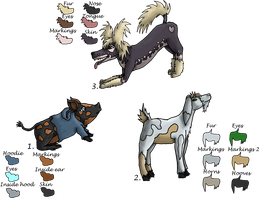 Animal adoptables (Open, lowered price 3/3 left) by Femaledragonknight