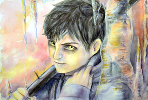 Black Jack watercolor by hyokka