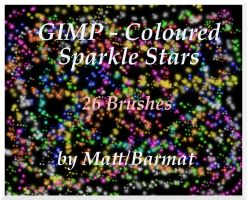 GIMP Coloured Sparkle Stars by barmat