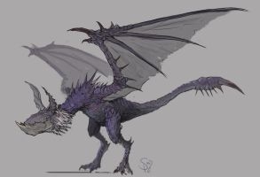 Yian Garuga, the Black Wolf Bird by Halycon450