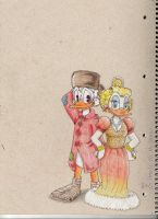 Scrooge and goldie by Evomanaphy