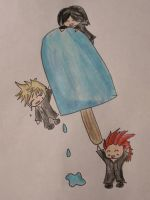 Xion, Roxas and Axel by Wahm-bulence
