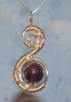 spiral amethyst wire wrap by crystalpanther2