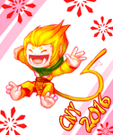 Happy CNY and here is a monkey by dragoonwys