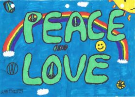 Peace and Love by Ristar3487