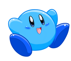 Blue Kirby by Nintendrawer