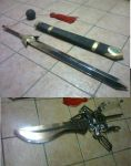 Sword Commissions - syaoran and engine swords by karlonne