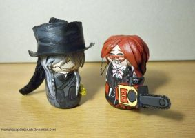 Grell and Undertaker by MariaHasAPaintBrush