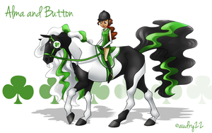 Alma and Button by audry22
