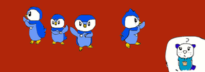 Piplups of Madagascar by ChildofAura