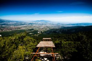 Athens from Mont Parnes by GlueR