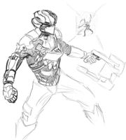 deadspace 2 speedsketch by Lordmarshal