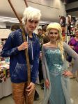 Queen Elsa and Jack Frost - Otakuthon 2014 by Silyah246