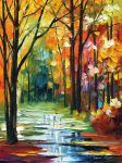 Late fall by Leonid Afremov by Leonidafremov