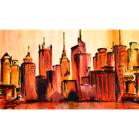 Manhattan New York City Skyline by Kunstlab