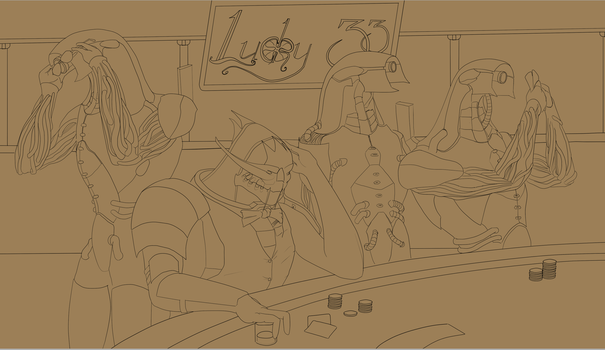 Chilling at the Casino - WIP 2 by VillageIdiot55
