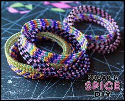 KANDi CUFF Rave Bangle Bracelet Sets by SugarAndSpiceDIY