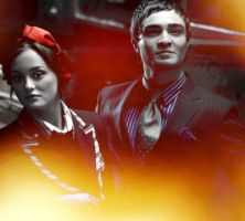 Chuck and Blair cover art by Cross-EyedMary