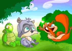 over the hedge babies by therealarien