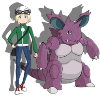 PC: Trainer and Nidoking by RandomSilentNinja