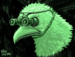 Draw an eagle with night vision goggles by zenzmurfy