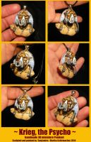 Krieg the Psycho - handsculpted miniature Pendant by Ganjamira
