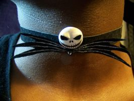 Jack Skellington Choker by Darmael