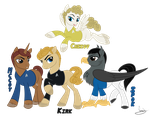Commission 2 - Mccoy, Kirk, Chekov and Spok MLP by VanyCat