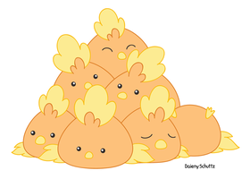 Pile of Torchic by Daieny
