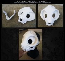 feline skull base by undead-medic