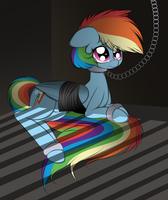 Rainbow Dash in Prison by V-D-K